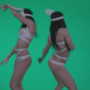 Go-go-Dancer-White-Rabbit-m6-Green-Screen-Video-Footage_009 Green Screen Stock