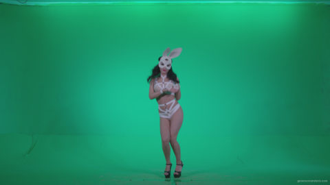 vj video background Go-go-Dancer-White-Rabbit-m7-Green-Screen-Video-Footage_003