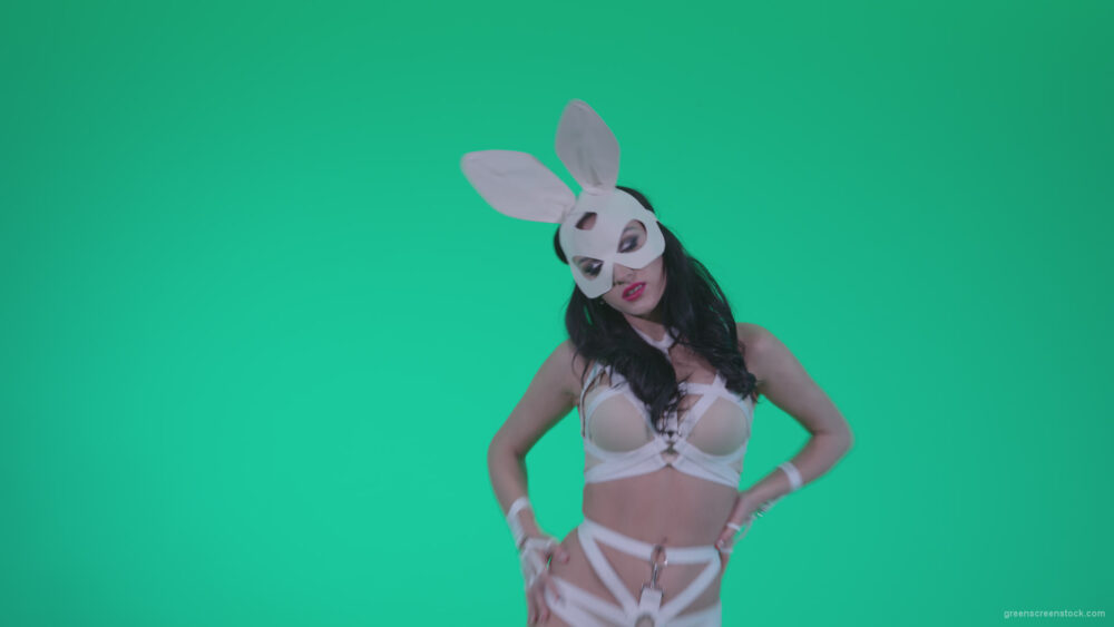 vj video background Go-go-Dancer-White-Rabbit-m8-Green-Screen-Video-Footage_003