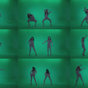 Go-go-Dancer-White-Stripes-s1-Green-Screen-Video-Footage Green Screen Stock