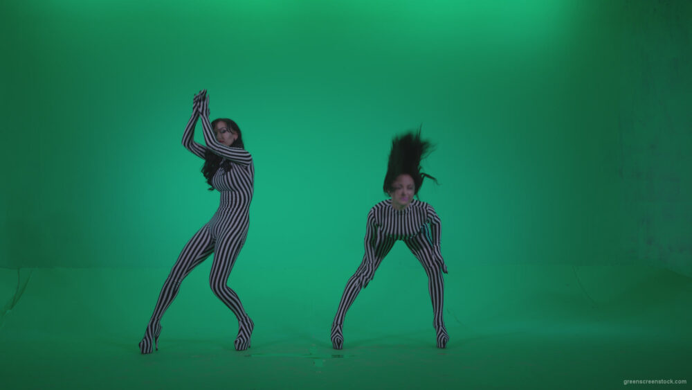 vj video background Go-go-Dancer-White-Stripes-s1-Green-Screen-Video-Footage_003