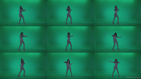 Go-go-Dancer-White-Stripes-s10-Green-Screen-Video-Footage Green Screen Stock