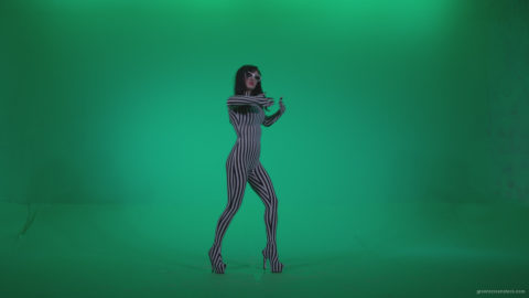 vj video background Go-go-Dancer-White-Stripes-s10-Green-Screen-Video-Footage_003