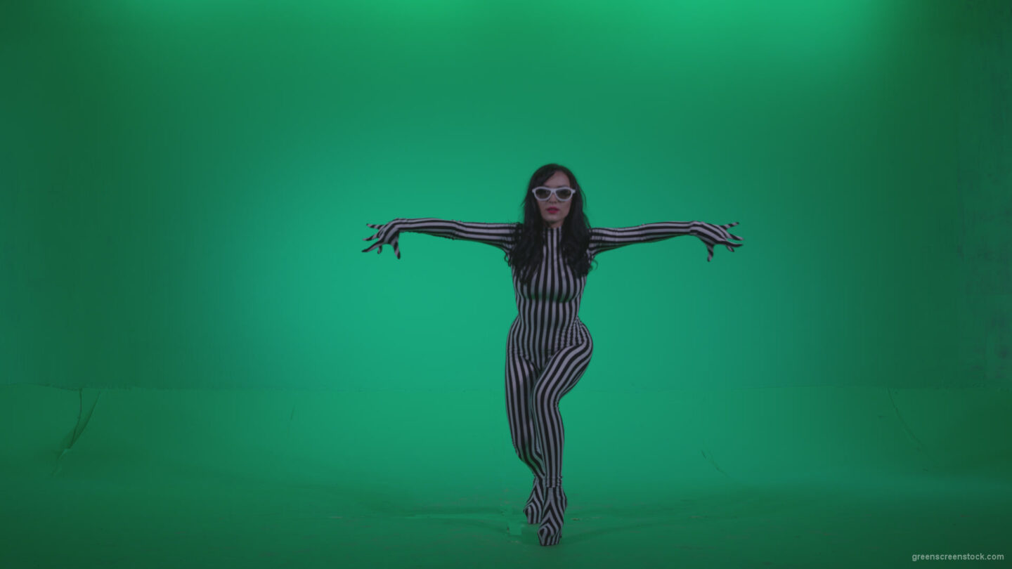 vj video background Go-go-Dancer-White-Stripes-s11-Green-Screen-Video-Footage_003