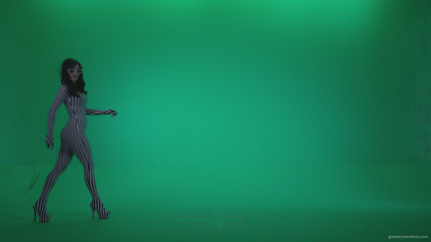 vj video background Go-go-Dancer-White-Stripes-s12-Green-Screen-Video-Footage_003
