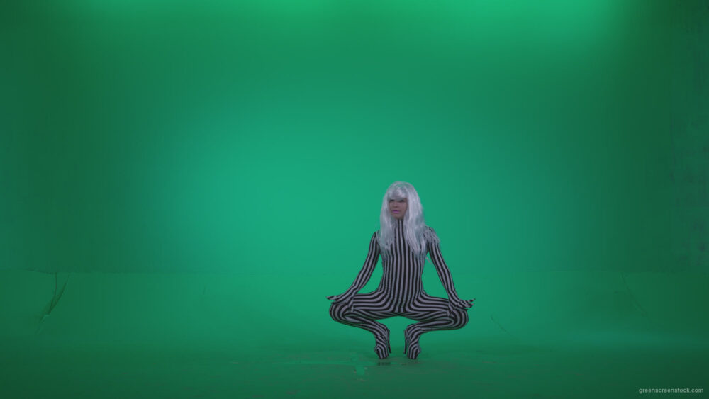 vj video background Go-go-Dancer-White-Stripes-s13-Green-Screen-Video-Footage_003