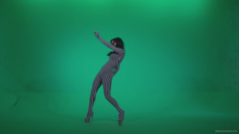 vj video background Go-go-Dancer-White-Stripes-s3-Green-Screen-Video-Footage_003
