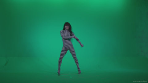 vj video background Go-go-Dancer-White-Stripes-s4-Green-Screen-Video-Footage_003