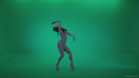 vj video background Go-go-Dancer-White-Stripes-s6-Green-Screen-Video-Footage_003