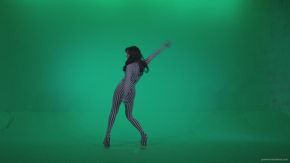 vj video background Go-go-Dancer-White-Stripes-s8-Green-Screen-Video-Footage_003