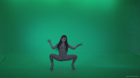 vj video background Go-go-Dancer-White-Stripes-s9-Green-Screen-Video-Footage_003