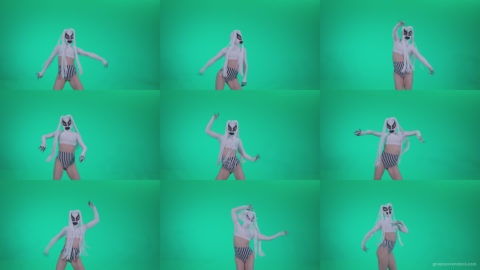 Go-go-Dancer-with-Latex-Top-t10-Green-Screen-Video-Footage Green Screen Stock