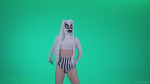 vj video background Go-go-Dancer-with-Latex-Top-t11-Green-Screen-Video-Footage_003