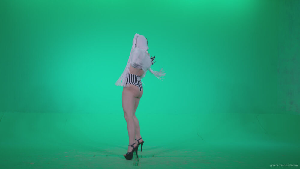 vj video background Go-go-Dancer-with-Latex-Top-t2-Green-Screen-Video-Footage_003