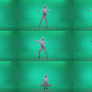 Go-go-Dancer-with-Latex-Top-t4-Green-Screen-Video-Footage Green Screen Stock