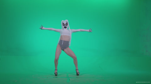 vj video background Go-go-Dancer-with-Latex-Top-t4-Green-Screen-Video-Footage_003