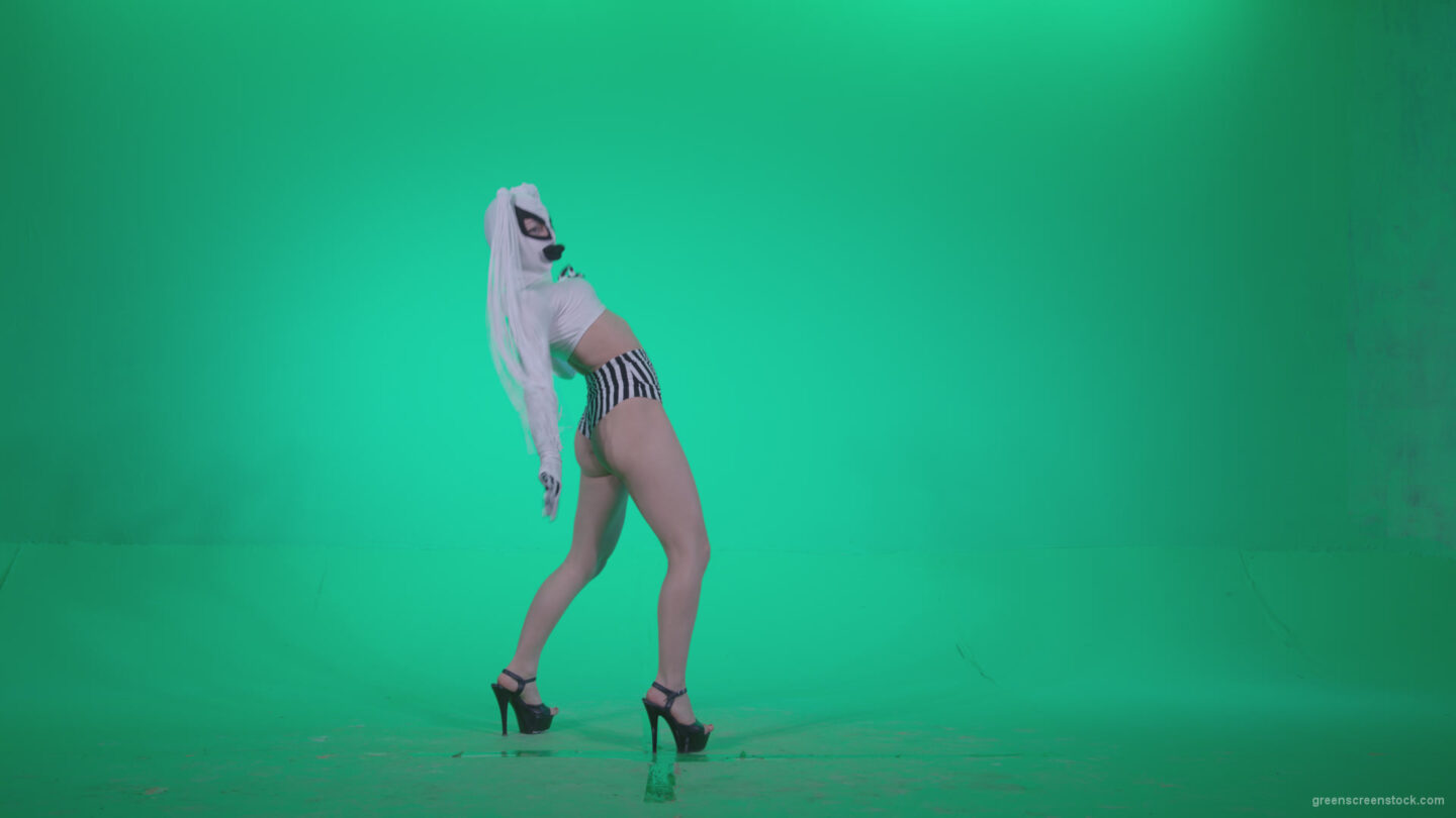 vj video background Go-go-Dancer-with-Latex-Top-t5-Green-Screen-Video-Footage_003