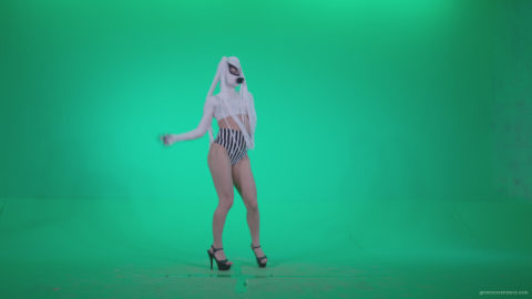 vj video background Go-go-Dancer-with-Latex-Top-t6-Green-Screen-Video-Footage_003