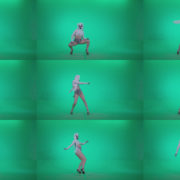Go-go-Dancer-with-Latex-Top-t7-Green-Screen-Video-Footage Green Screen Stock