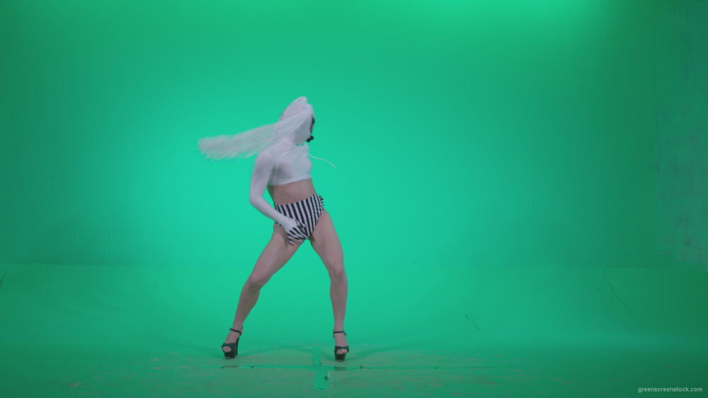 vj video background Go-go-Dancer-with-Latex-Top-t7-Green-Screen-Video-Footage_003
