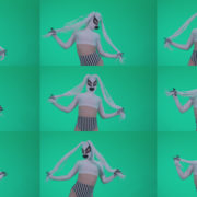 Go-go-Dancer-with-Latex-Top-t8-Green-Screen-Video-Footage Green Screen Stock