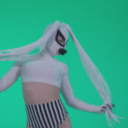 Go-go-Dancer-with-Latex-Top-t8-Green-Screen-Video-Footage_006 Green Screen Stock