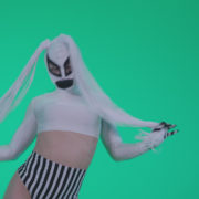 Go-go-Dancer-with-Latex-Top-t8-Green-Screen-Video-Footage_007 Green Screen Stock