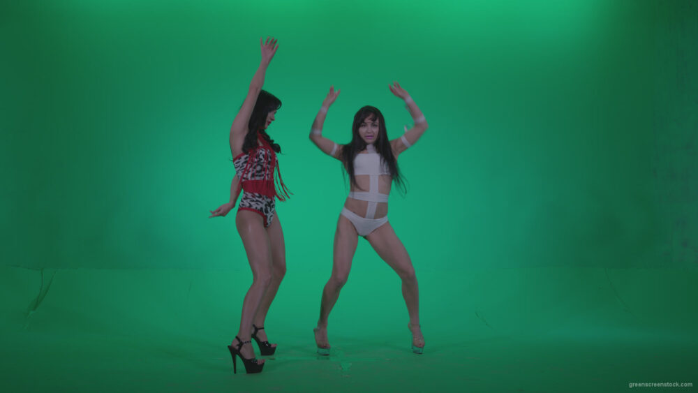 vj video background Go-go-Dancers-Red-with-LiLu-w1-Green-Screen-Video-Footage_003