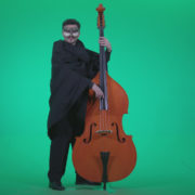 Gothic-Contrabass-Jazz-Performer-2_001 Green Screen Stock