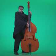 Gothic-Contrabass-Jazz-Performer-2_002 Green Screen Stock