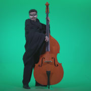 Gothic-Contrabass-Jazz-Performer-2_004 Green Screen Stock