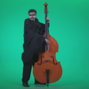 Gothic-Contrabass-Jazz-Performer-2_005 Green Screen Stock