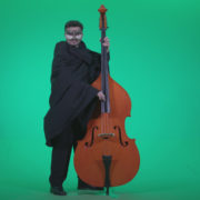 Gothic-Contrabass-Jazz-Performer-2_007 Green Screen Stock
