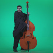 Gothic-Contrabass-Jazz-Performer-2_008 Green Screen Stock