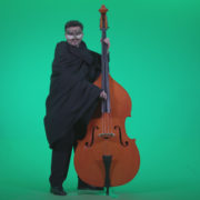 Gothic-Contrabass-Jazz-Performer-2_009 Green Screen Stock