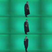 Gothic-Saxophone-Virtuoso-Performer-s2 Green Screen Stock