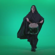 Gothic-Snare-Drumming-girl-g2_007 Green Screen Stock