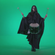 Gothic-Snare-Drumming-girl-g3_002 Green Screen Stock