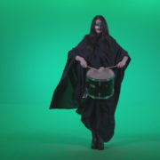 Gothic-Snare-Drumming-girl-g3_004 Green Screen Stock