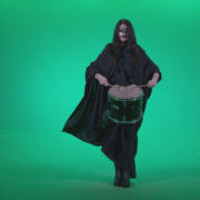 Gothic-Snare-Drumming-girl-g3_005 Green Screen Stock