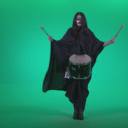 Gothic-Snare-Drumming-girl-g3_006 Green Screen Stock