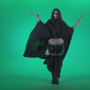 Gothic-Snare-Drumming-girl-g3_007 Green Screen Stock