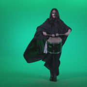 Gothic-Snare-Drumming-girl-g3_008 Green Screen Stock