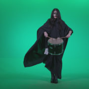 Gothic-Snare-Drumming-girl-g3_009 Green Screen Stock