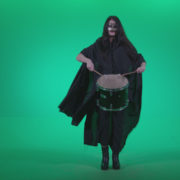 Gothic-Snare-Drumming-girl-g4_002 Green Screen Stock