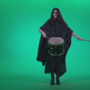 Gothic-Snare-Drumming-girl-g4_004 Green Screen Stock