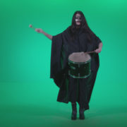Gothic-Snare-Drumming-girl-g4_005 Green Screen Stock