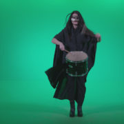 Gothic-Snare-Drumming-girl-g4_006 Green Screen Stock