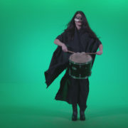 Gothic-Snare-Drumming-girl-g4_007 Green Screen Stock
