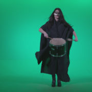 Gothic-Snare-Drumming-girl-g4_009 Green Screen Stock